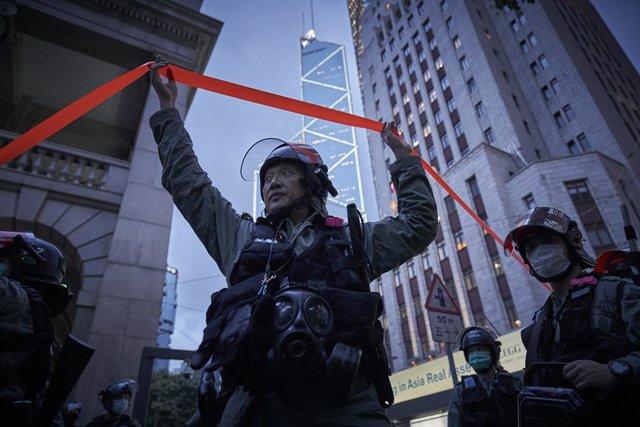 China.- Cuatro activistas hongkoneses, arrestados bajo la nueva Ley de Seguridad