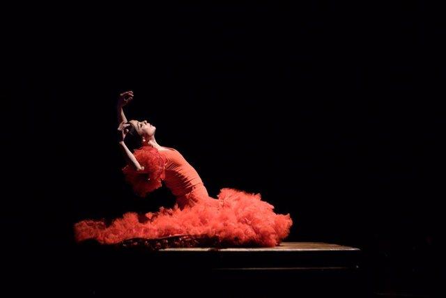 Olga Pericet en la Bienal de Flamenco de Sevilla en una imagen de archivo.
