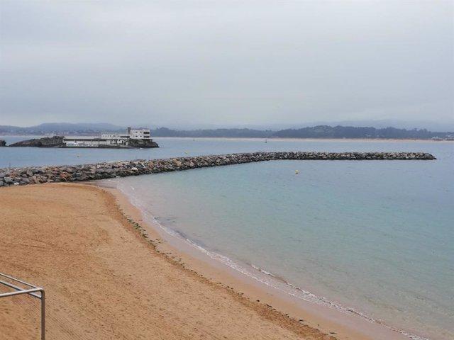 Espigón de la playa de la Magdalena