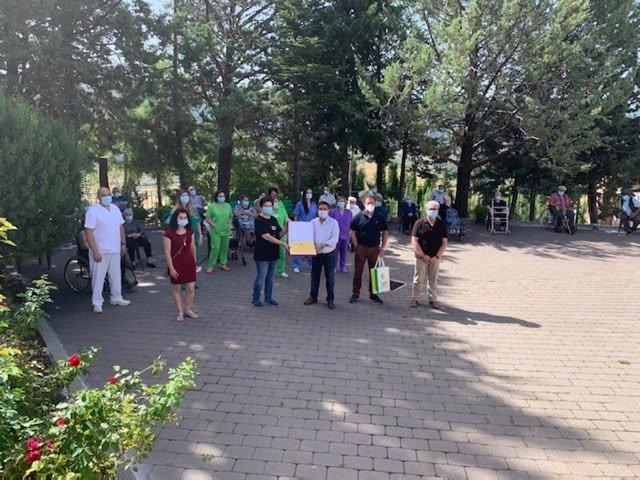 Reconocimiento de Diputación a la residencia de mayores de Santago-Pontones