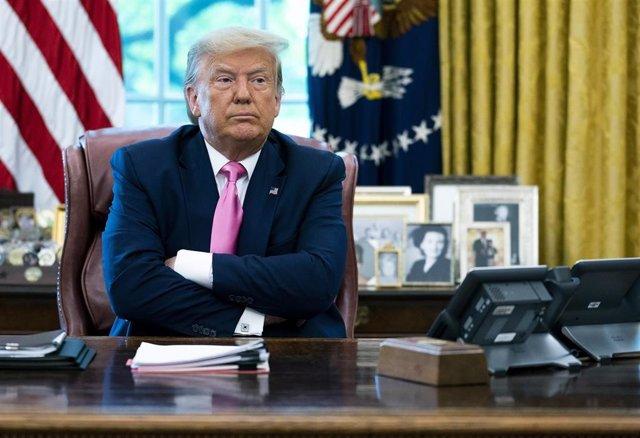 Donald Trump en el Despacho Oval de la Casa Blanca en Washington, EEUU