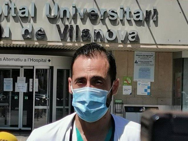 El coordinador de les plantes de covid-19 a l'Hospital Universitari Arnau de Vilanova de Lleida, José Luis Morales-Rull.
