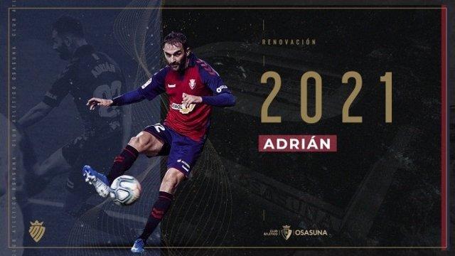 Fútbol.- Adrián López renueva una temporada con Osasuna