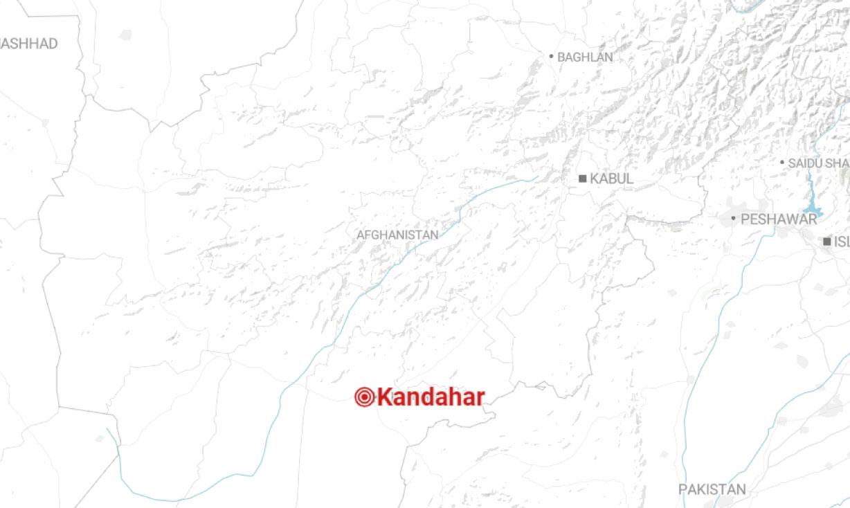 Mapa con la ubicación de la provincia de Kandahar en Afganistán