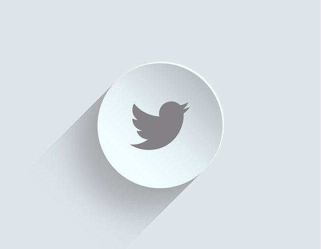 Logo twitter fondo blanco