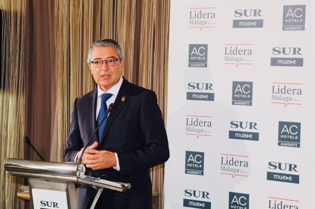 El presidente de la Diputación de Málaga, Francisco Salado