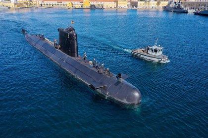 El submarino de la Armada Española 'S-74 Tramontana' hace escala este sábado en el puerto de Melilla