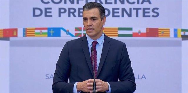 Intervenció de Pedro Sánchez en la XXI Conferncia de Presidents a La Rioja.