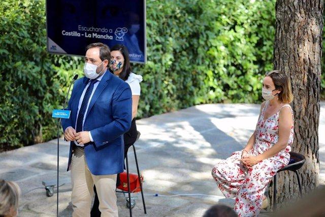 El presidente del PP de C-LM, Paco Núñez, en la presentación de 'Escuchando a C-LM'