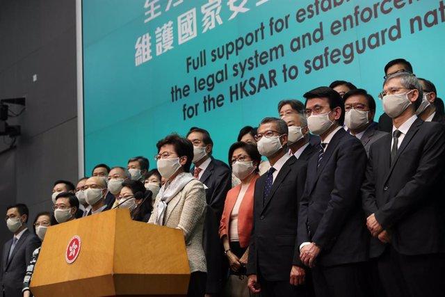 China.- Hong Kong anuncia el aplazamiento de las elecciones legislativas de sept