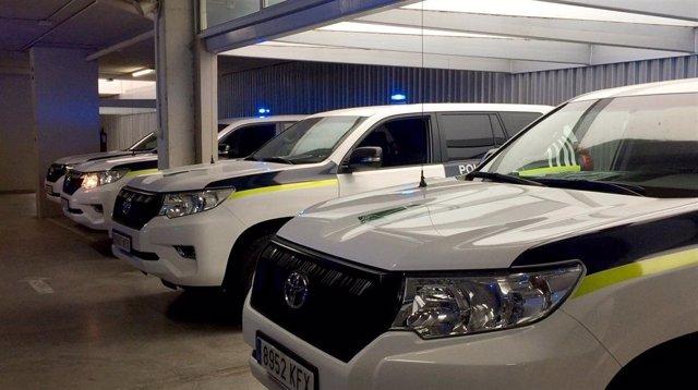 Coches de la Policía Autonómica de Andalucía