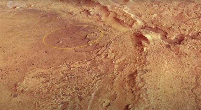 Sitito de aterrizaje del rover Perseverance