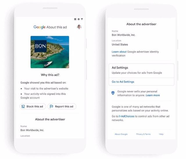 Google mostrará el nombre verificado de los anunciantes en la publicidad digital