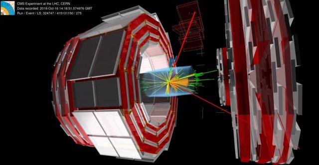 Imagen del experimento de CERN.