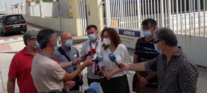 CCOO defenderá el empleo y la viabilidad de los cuatro centros de trabajo de Airbus en Andalucía