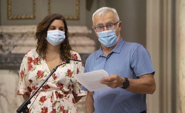 El alcalde de València, Joan Ribó, y la vicealcaldesa, Sandra Gómez.