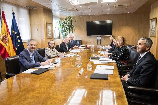 Los miembros de la Autoridad Macroprudencial (Amcesfi) en su primera reunión