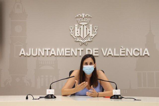 La regidora del Cicle Integral de l'Aigua, Elisa Valia