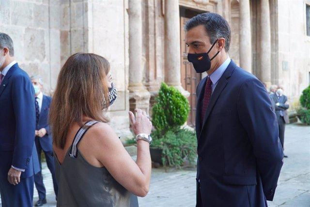 La presidenta del Govern, Francina Armengol, participa en la XXI Conferencia de Presidentes Autonómicos que se celebra en el Monasterio de Yuso (San Millán de la Cogolla), en La Rioja