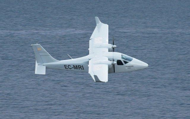 Imagen de recurso de un avión ligero.