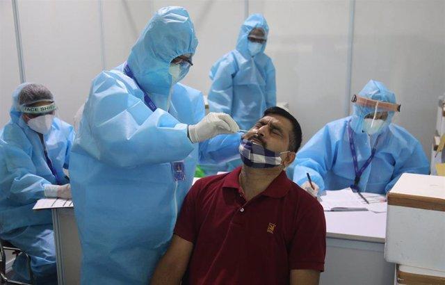 Pruebas del coronavirus en India