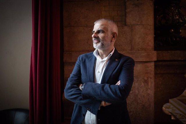 El presidente de Ciudadanos en el Parlamento catalán, Carlos Carrizosa, posa tras una entrevista para Europa Press, en Barcelona, Catalunya (España), a 30 de julio de 2020.