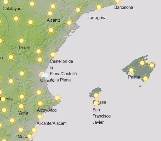 Predicción de Aemet para la Comunitat Valenciana del 1 de agosto de 2020