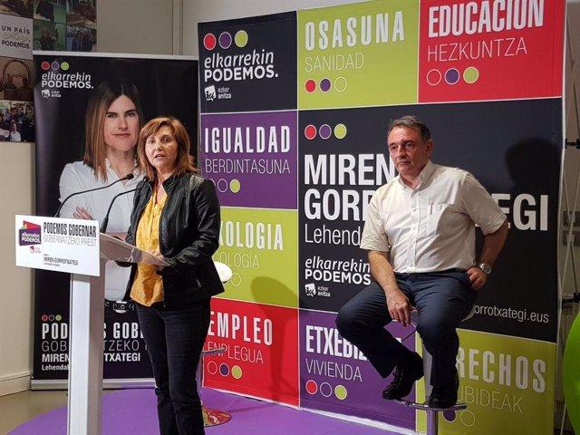 """12J.- Elkarrekin Podemos-IU ofrece """"seguridad y bienestar para toda la ciudadanía"""" frente a la """"austeridad"""" del PNV"""