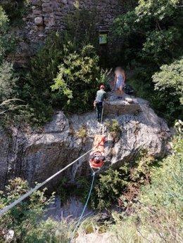 Rescate de montaña en Panticosa (Huesca).