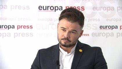 """Rufián asume que ERC no es imprescindible para el Gobierno tras """"la última bala"""" de Cs y llama a repensar su estrategia"""