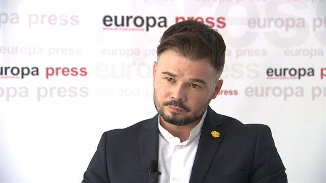 El portavoz de Esquerra Republicana (ERC) en el Congreso, Gabriel Rufián