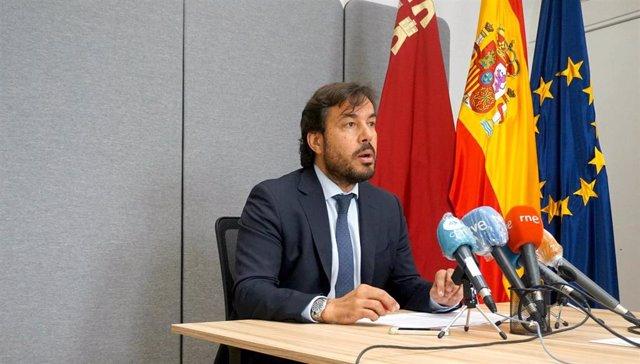 El consejero de Empleo, Investigación y Universidades, Miguel Motas