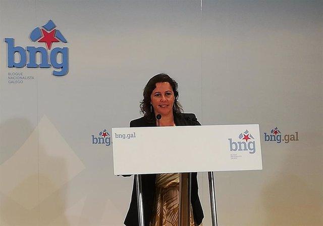 A portavoz do BNG en Europa, Ana Miranda, nunha foto de arquivo nunha rolda de prensa