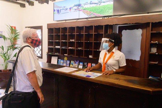 Punto de información turística en Las Palmas de Gran Canaria