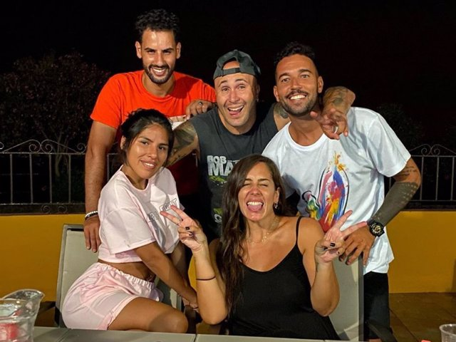 Asraf Beno, Kiko Rivera, Omar Sánchez, Isa Pantoja y Anabel Pantoja