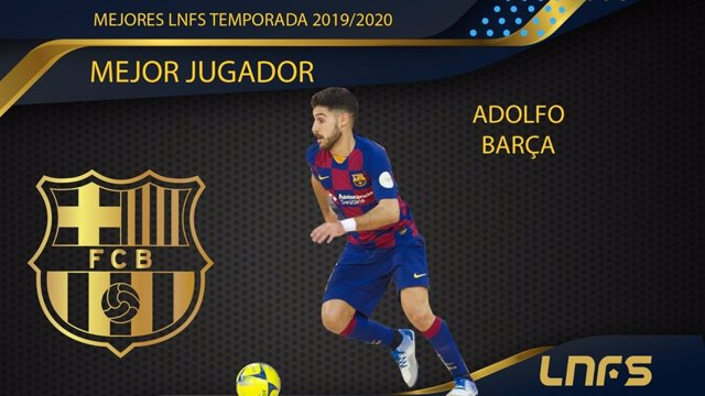 Adolfo, jugador del Barça, 'Mejor Jugador' de la Liga Nacional de Fútbol Sala (LNFS) en la temporada 2019/20