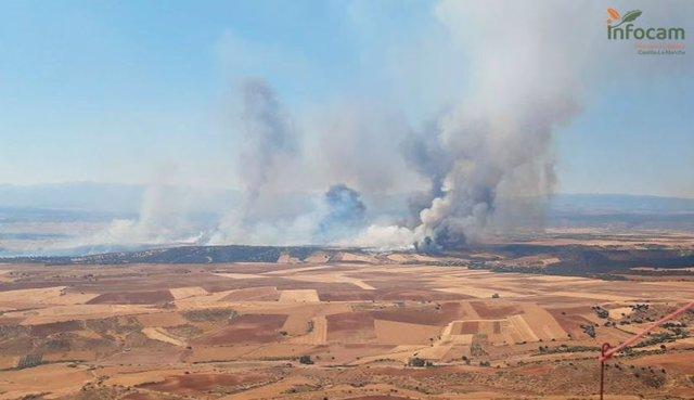 Incendio entre Madrid y Guadalajara