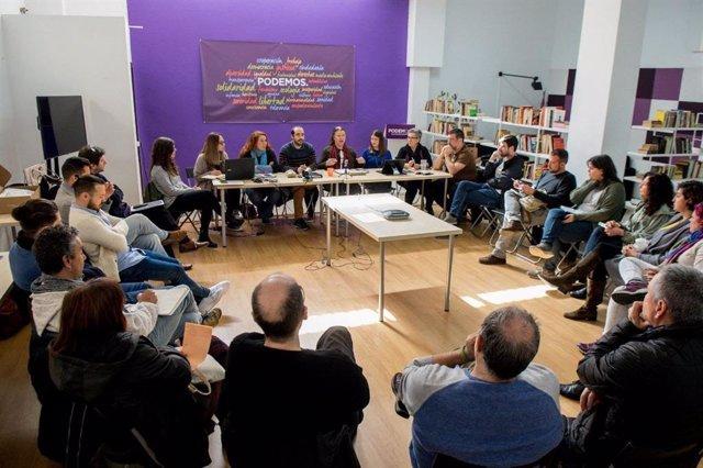 Reunión del Consejo de Ciudadano Autonómico de Podemos.