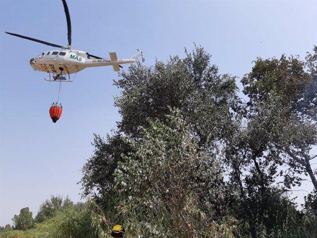 Infoca actúa en un incendio en La Rinconada