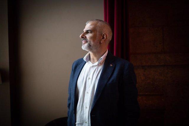 El president de Ciutadans al Parlament català, Carlos Carrizosa, posa després d'una entrevista per a Europa Press, a Barcelona, Catalunya (Espanya), a 30 de juliol de 2020.