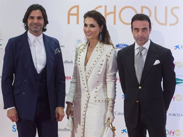 Javier Conde, Paloma Cuevas and Enrique Ponce attend the opening of the new theatre Soho Caixabank on November 15, 2019 in Malaga, Spain.