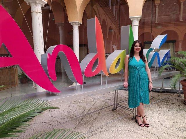 Purificación Joyera, en la sede de la Delegación de Turismo, Regeneración, Justicia y Administración Local de la Junta en Córdoba.