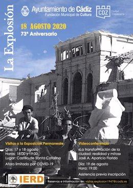 Varias actividades para conmemorar el 73 aniversario de la explosión de Cádiz de 1947
