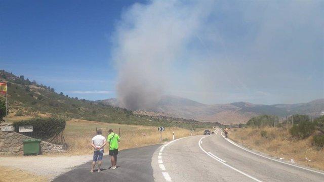 Imágenes del incendio originado en Robledo de Chavela (Comunidad de Madrid/España), el 2 de agosto de 2020.