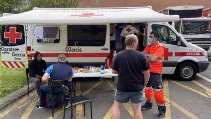 Cruz Roja Gipuzkoa ha atendido a cerca de 50.000 personas desde el inicio de la crisis sanitaria
