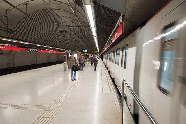 L'estació de la L1 de la Sagrera del Metre de Barcelona