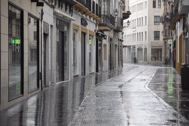 La calle Tetúan totalmente vacía durante el estado de alarma por el coronavirus, en una imagen de archivo