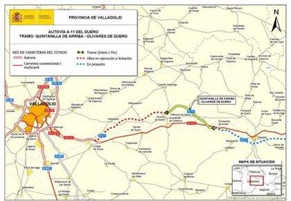 Adjudicadas las obras del tramo de la A-11 entre Quintanilla de Arriba y Olivares de Duero