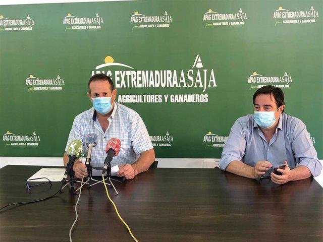 Presidentes de Apag Extremadura Asaja y Asaja Cáceres, Juan Metidieri y Angel García Blanco