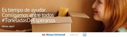 La campaña #ToneladasdeEsperanza de Mutua Universal recauda 6.000 euros para los Bancos de Alimentos